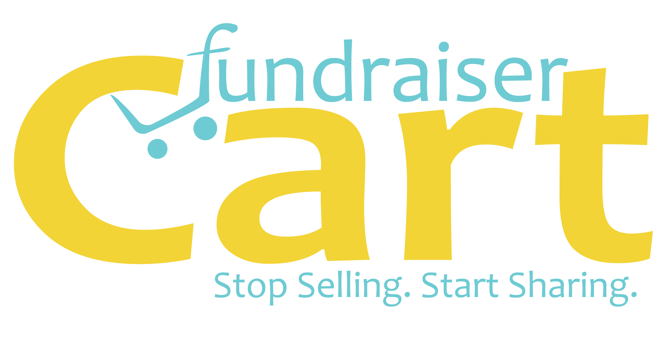 FundraiserCart Logo_Yellow_slogan