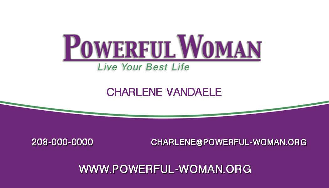 Powerful Woman Business Card